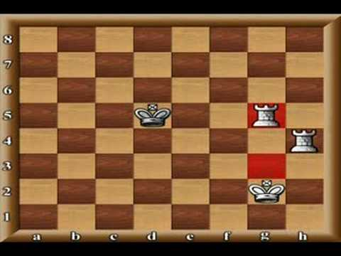 chess tactic how to check mate with 2 rooks