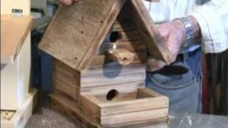 How To Make A Bird Feeder : Using Fancy Old Wood For Bird Feeder