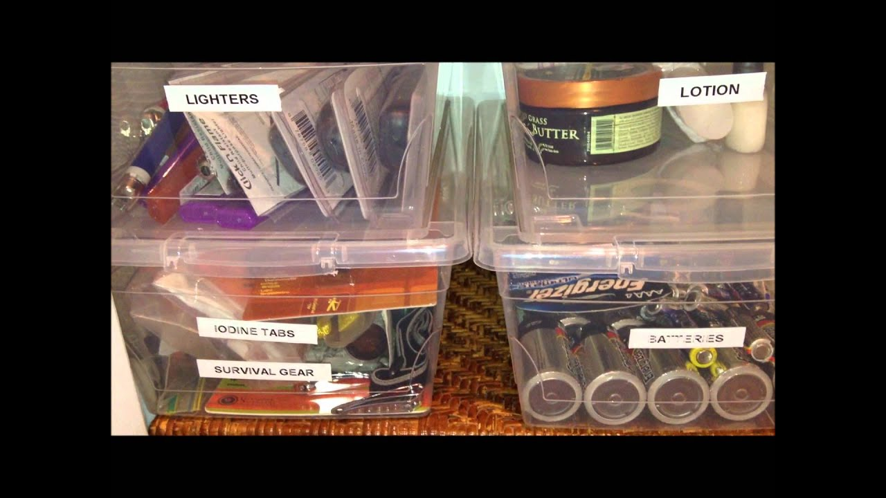 Organizing a Preppers Pantry Yearly Recommended - YouTube