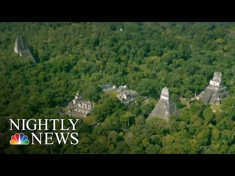 Lasers On Planes Used To Reveal Massive Massive Complex Of Mayan Ruins | NBC Nightly News