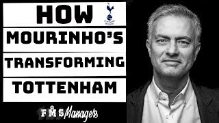 Download onefootball: http://tinyurl.com/qkgwa68jose mourinho tactics. with having his feet under the table, spurs have improved tremendously. in t...