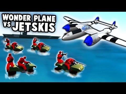 NEW Lightning WONDER PLANE vs Jet Ski Navy!  (Ravenfield New Update Gameplay)