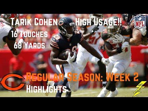 Tarik Cohen Week 2 Regular Season Highlights High Usage | 9/17/2017