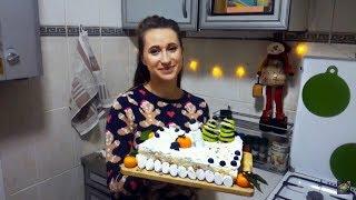 видео Домашний Наполеон на Новый год - как украсить торт Наполеон на Новый год