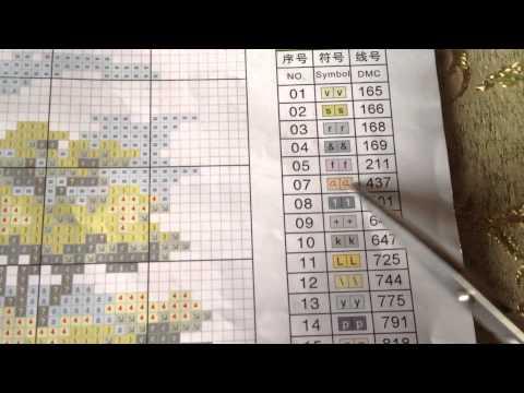 Вышивка крестиком  Как определить на схеме и канве с нанесенным рисунком крест и полу крест