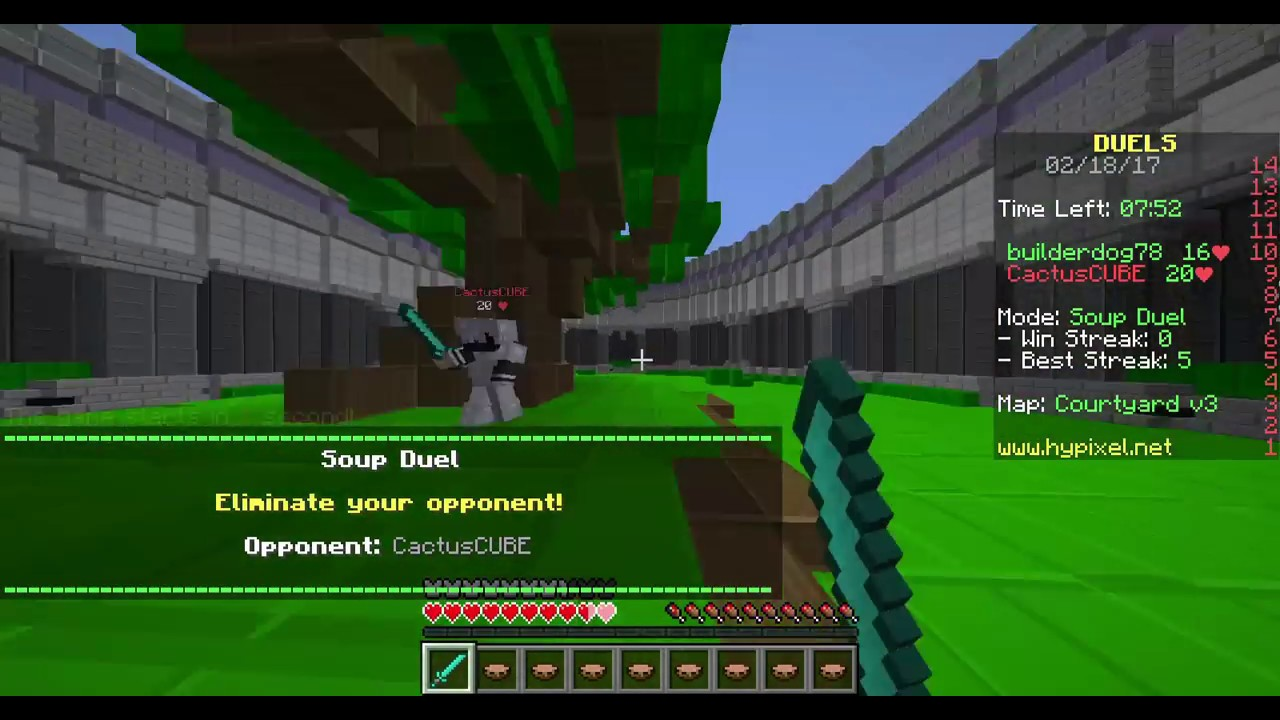 Hypixel Duels | Best PvP Comback Ever! (Soup Kit) | Minecraft