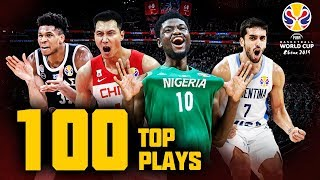 The Top 100 Plays (ft. Antetokounmpo, Walker & more!) of the FIBA Basketball World Cup 2019!