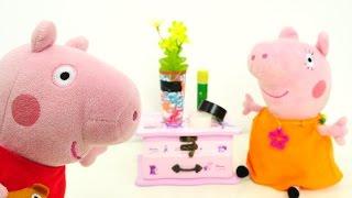 Видео про игрушки и про Свинку Пеппу - Дети разбили вазу