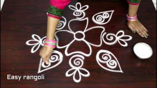 freehand rangoli designs || muggulu designs freehand || freehand kolam designs