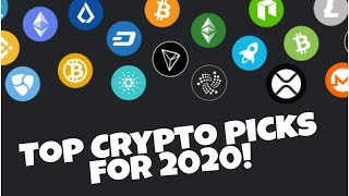 TOP Crypto  picks for 2020-Will they returns be huge?