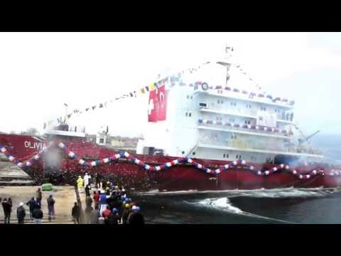 "Gelibolu Shipyard ""OLIVIA"" IMO:9704180 Launching 29.03.2014"