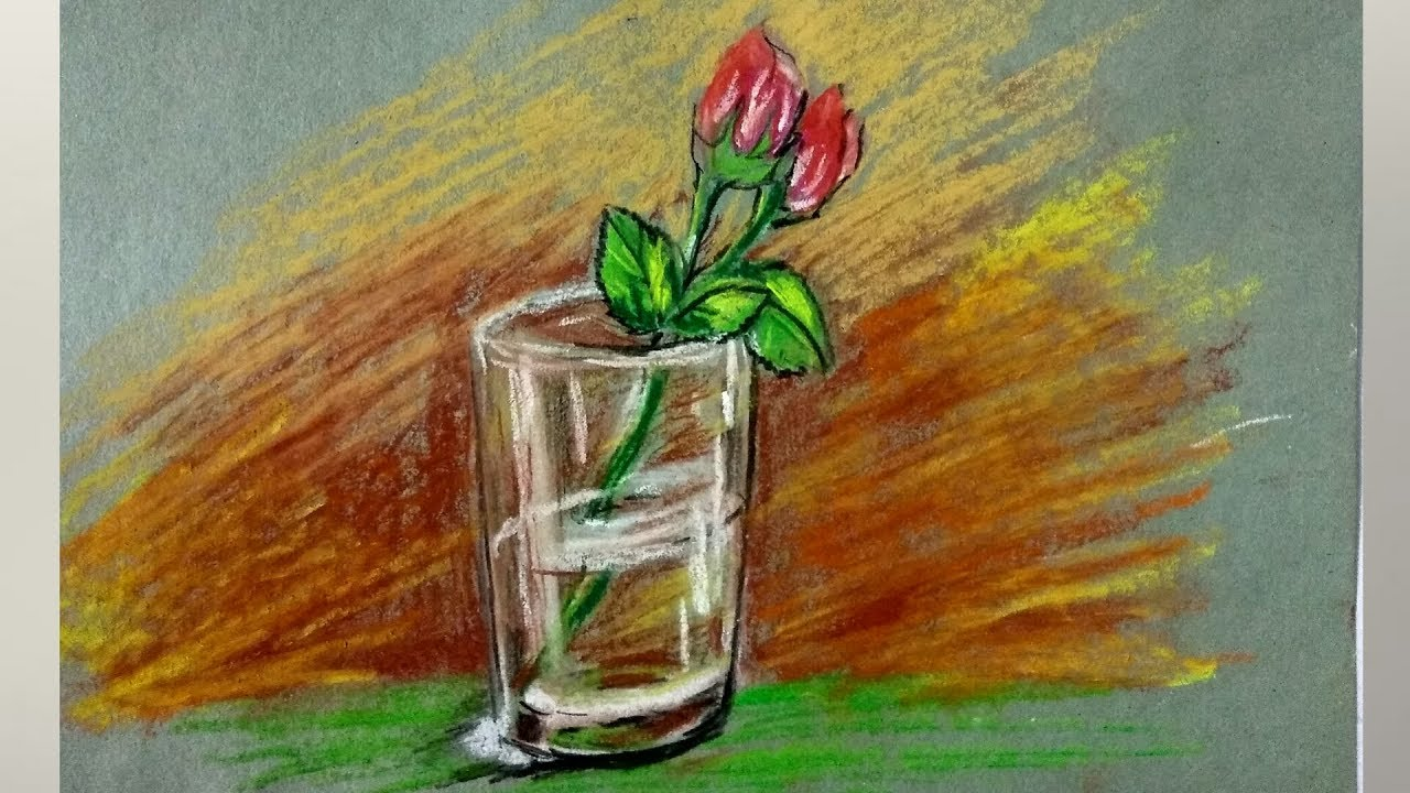 Still Life In Oil Pastel How To Draw And Colour Still Life In Oil Pastel For Beginners Youtube