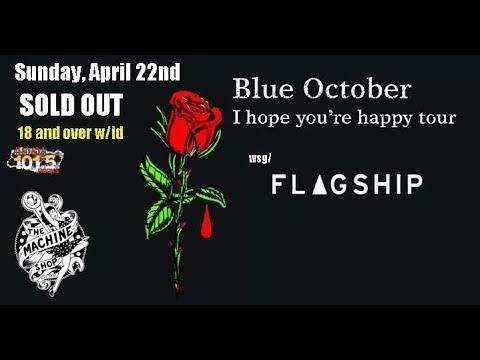 "Blue October 2018 ""18th Floor Balcony"" The Machine Shop Flint, MI"
