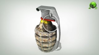 How to texture a Hand Grenade in 3D Coat