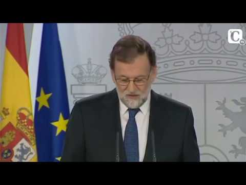 """Mariano Rajoy: """"Hoy no ha habido referéndum de autodeterminación en Cataluña"""""""