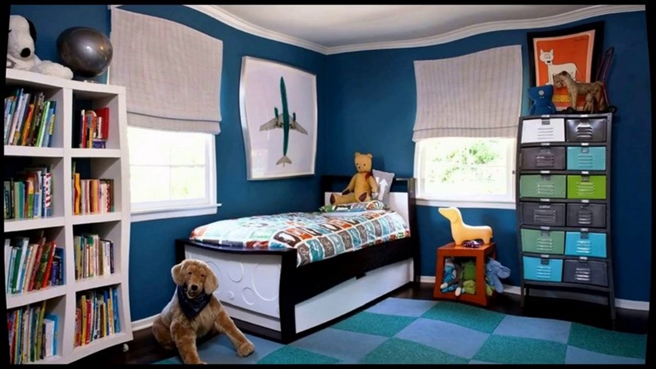Kids Bedroom Paint Blue - YouTube