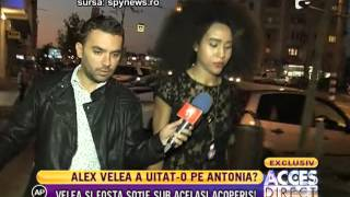 Alex Velea si Ana, fosta sotie, sub acelasi acoperis!