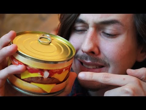 Je teste un Hamburger en conserve