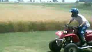 bombardier rally and honda 400ex little wheelie