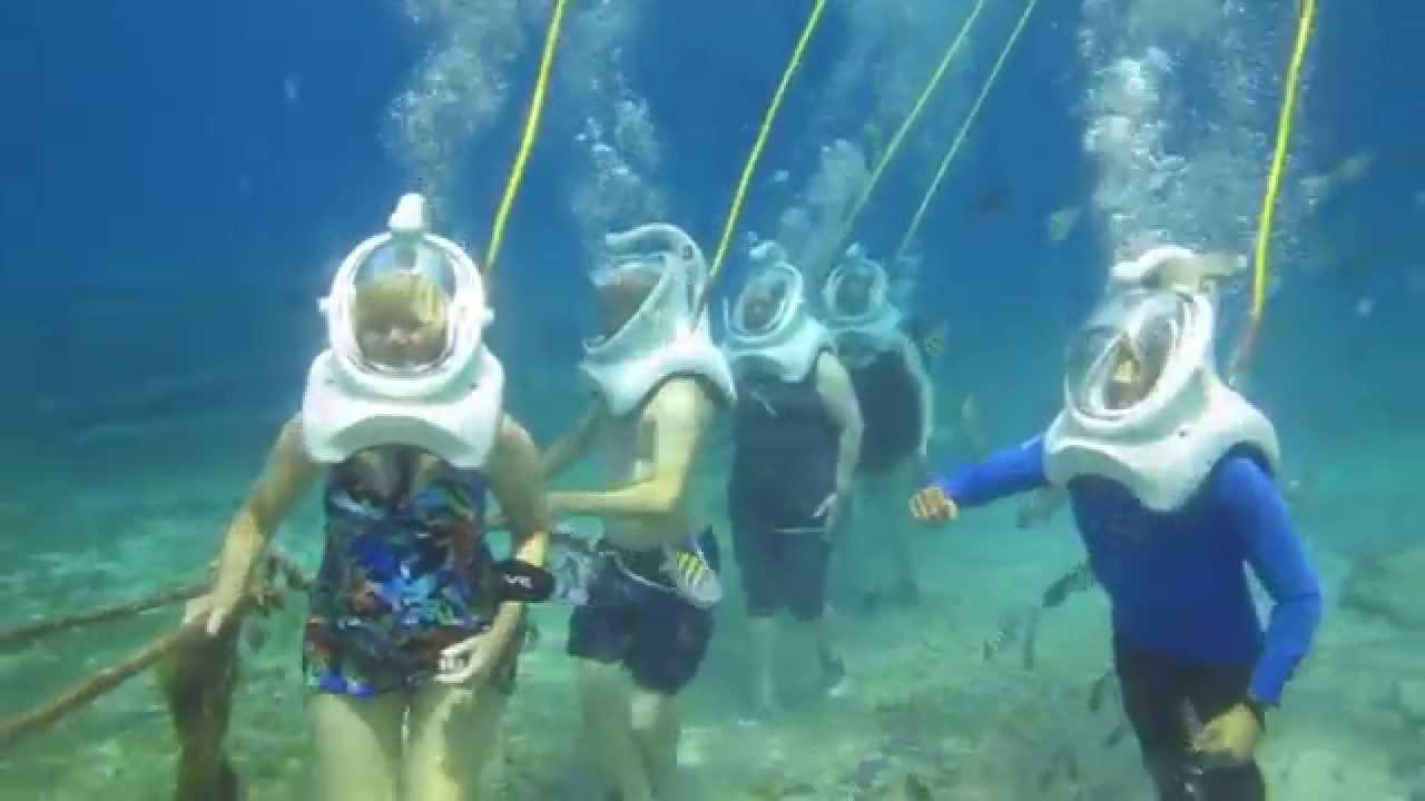 Sea Trek Helmet Dive In Cozumel