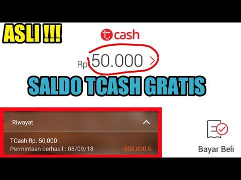Total Rp 50 000!! New Review Cara Mendapatkan Saldo Secara Tcash Gratis !!