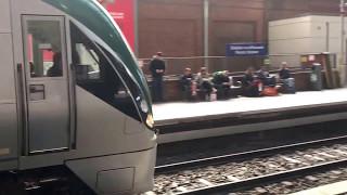 Irish Rail ICR 22000 DMU departs Pearse for Connolly (5/5/17)