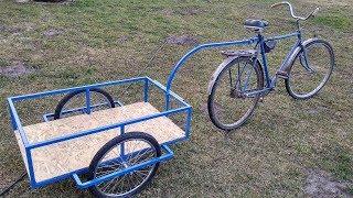 Bicycle Trailer Homemade DIY велоприцеп