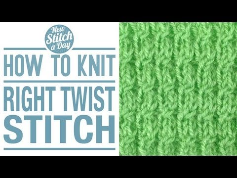 How To Knit The Right Twist Stitch Youtube