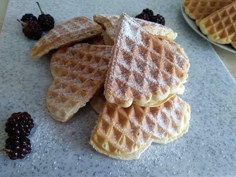 Простой рецепт вафель, можно и на сковороде!