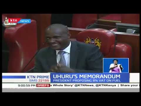 Speaker Justin Muturi presents president's memorandum on Finance Bill 2018