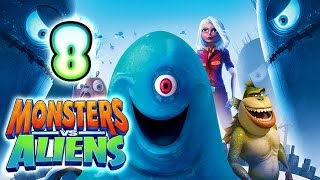 Monsters VS Aliens Walkthrough Part 8 (PS3, X360, Wii, PS2) ~ Missing Link Level 8