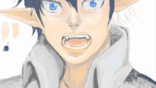 Repeat youtube video Me painting ''Rin from Ao No Exorcist''