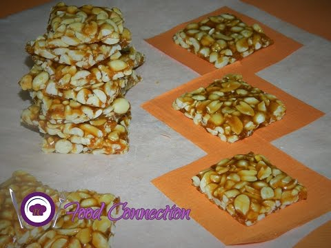 Peanut Chikki / Gud Moongfali Chikki / Brittle / Jaggery Peanut Candy - By Food Connection