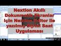 Nextion Akıllı Dokunmatik Ekranlar için Nextion Editor ile yazılmış Dijital Saat Uygulaması