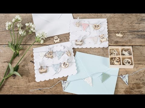 DIY : Make your own baptism party invitations by Søstrene Grene