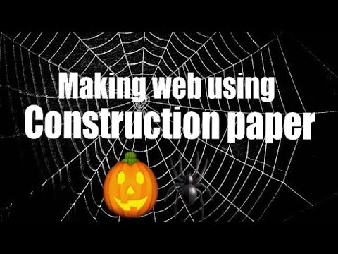 Halloween DIY: Making spider web using construction paper!