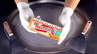 ASMR - oddly satisfying Ice Cream Rolls | how to make Cocos Ice Cream with Nestle Prestigio Branco