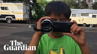 Crisanto Street  - a child living in a mobile home in Silicon Valley