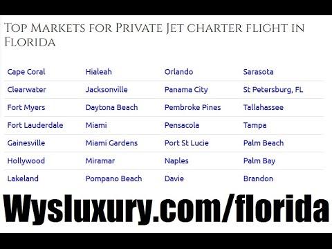 Private Jet Charter Flight From or To Daytona Beach, Lakeland, Kissimmee, Orlando FL