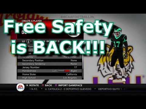 NCAA Football 14 | Road To Glory | Ep.1 Free Safety is BACK!!!