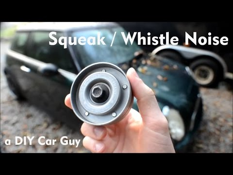 MINI Cooper Whistle Noise Diagnosis  Idler Pulley Replacement