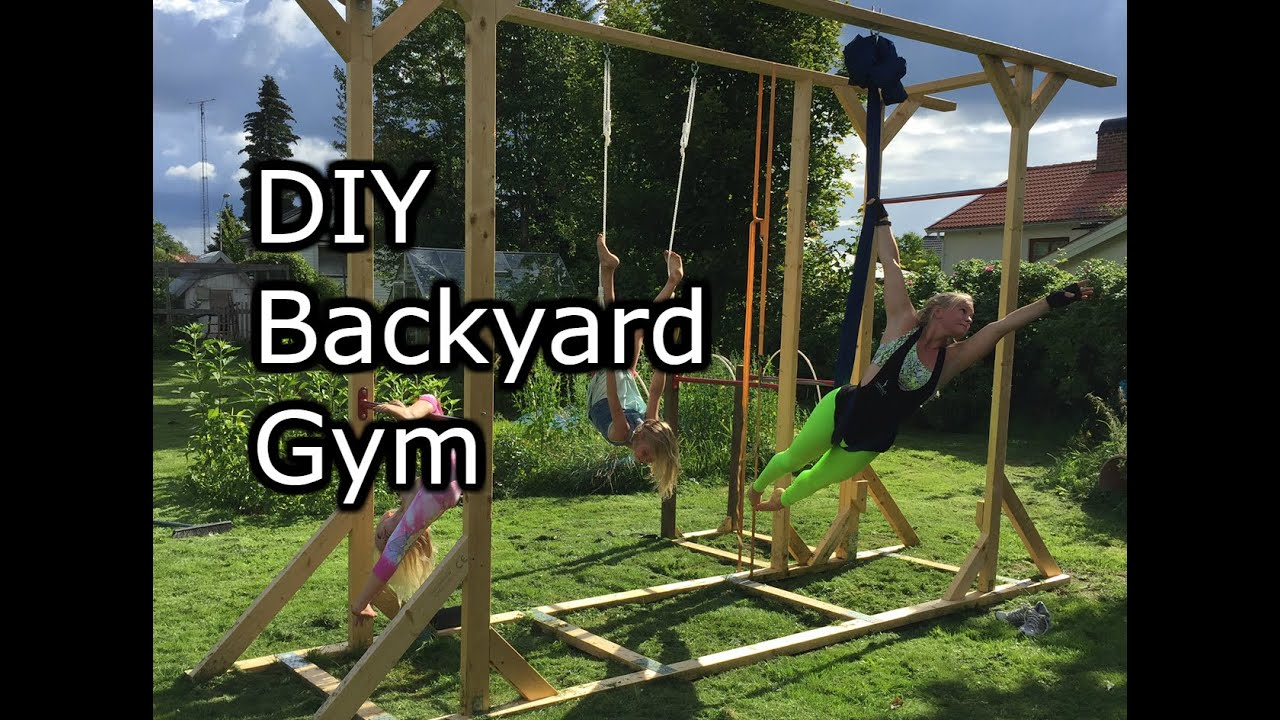 Homemade Backyard gym. How to make it simple.