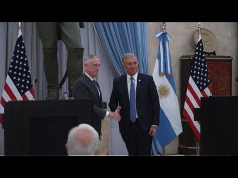 Argentina y EEUU se proponen reforzar su relación militar