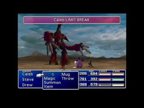 FF7: Cait Sith Game Over instint kill on Ruby Weapon