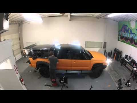 Supercharged Toyota Tacoma Matte Orange Vinyl Wrap Youtube