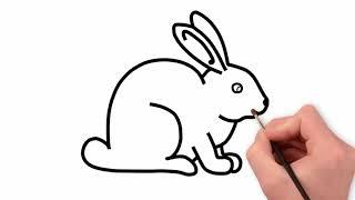 rabbit bunny drawing easy draw simple step cartoons drawings splendi coloring printable steps paintingvalley crypts lovers