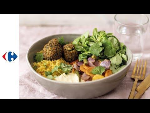 bowl-libanais-aux-falafels,-boulgour-et-carottes-caramélisées