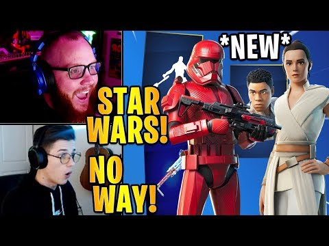 Streamers React To The *NEW* STAR WARS Skins & Emotes!   Fortnite Highlights & Funny Moments
