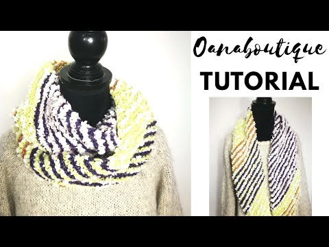 Ring Scarf Knitting tutorial by Oana thumbnail