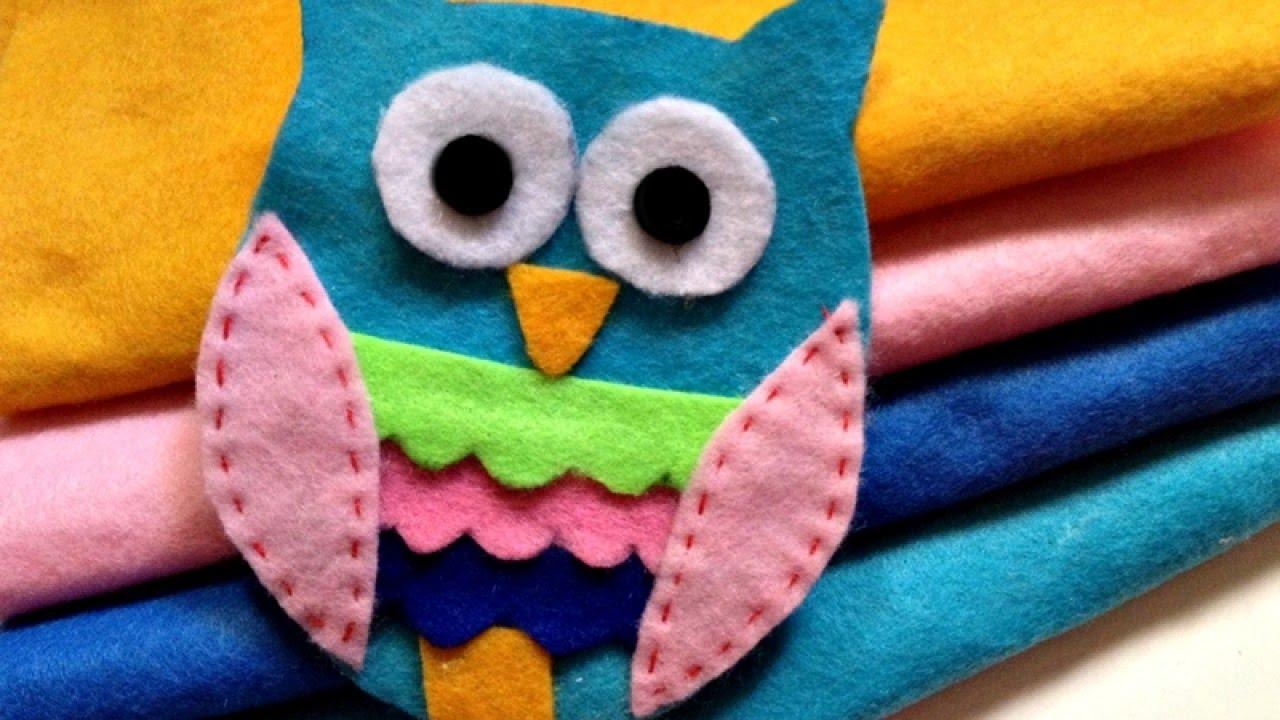 How To Make a Cute Adhesive Felt Owl Applique - DIY Crafts Tutorial - Guidecentral - YouTube & How To Make a Cute Adhesive Felt Owl Applique - DIY Crafts ... pillowsntoast.com